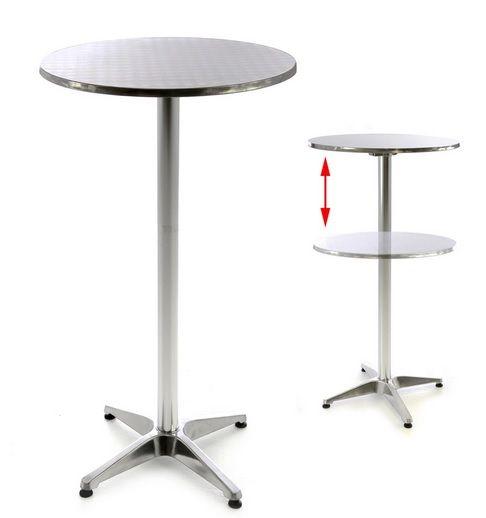 Kör alakú bárasztal 110 cm, ezüst