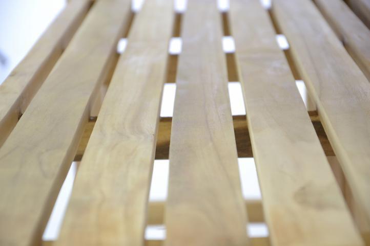 Kerti készlet DIVERO 150 cm - teak fa