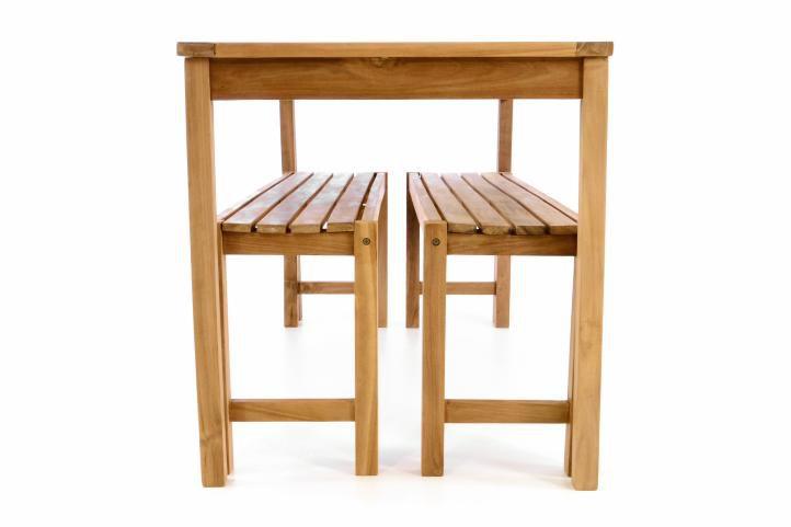 Kerti bútor készlet DIVERO® 135 cm - tíkfa
