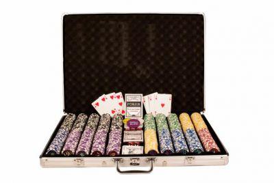 Póker készlet, 1000 db-os zseton - OCEAN, értéke 5-1000