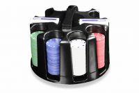 Póker készlet 200 db - forgatható műanyag állvány/Caddy