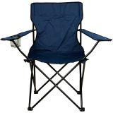 Összecsukható szék pohártartóval - kék
