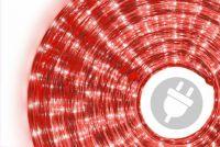 Fénykábel 10 m - piros, 360 mikro izzó