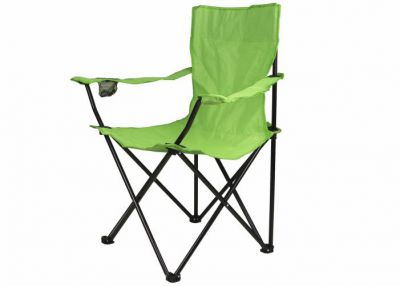 Összecsukható szék pohártartóval - világoszöld