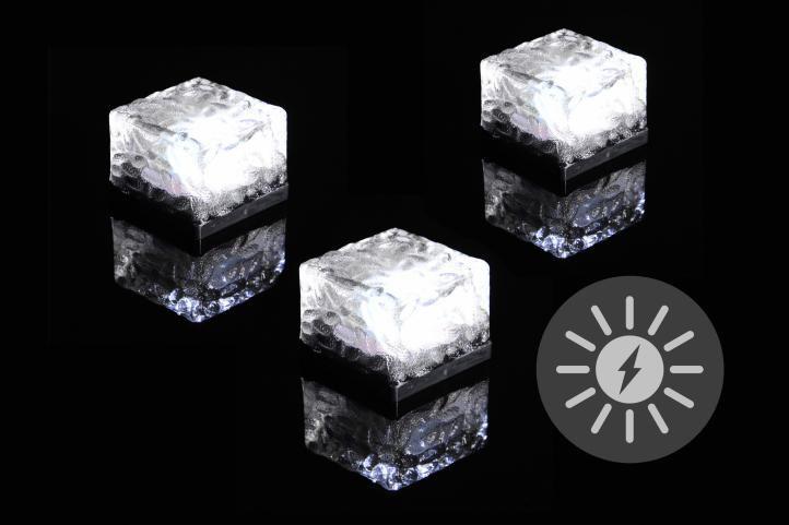 Kerti napelemes világítás NEXOS LED 3 db kocka