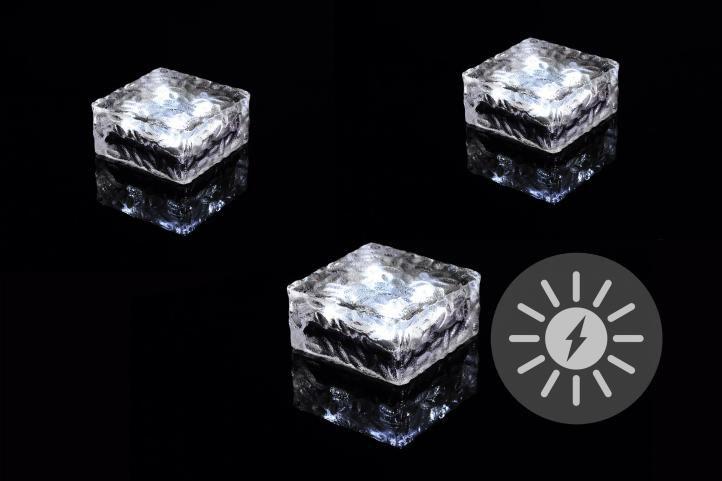 Kerti napelemes világítás NEXOS LED 3 db kocka fehér