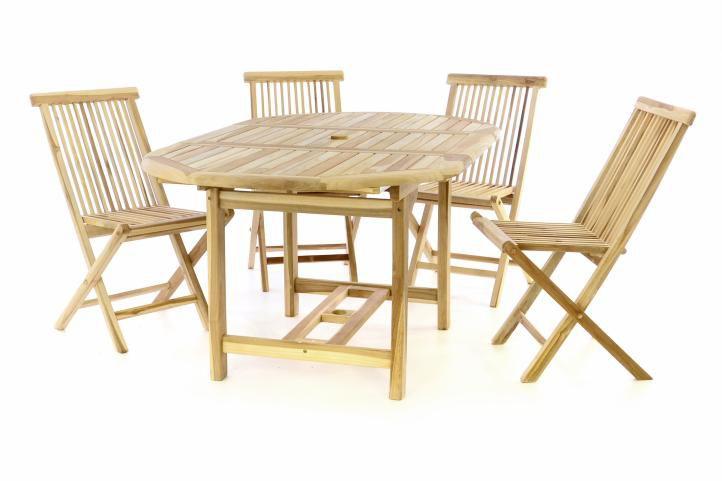 Kerti bútor készlet DIVERO® - tíkfa