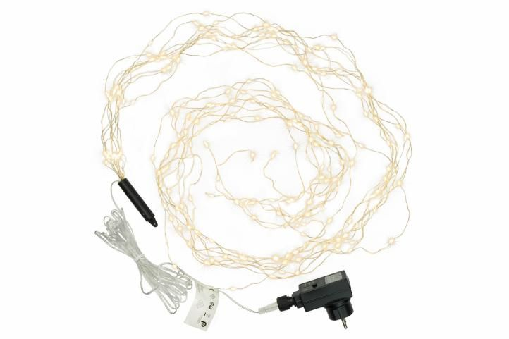 Karácsonyi világítás - 200 LED drót, meleg fehér