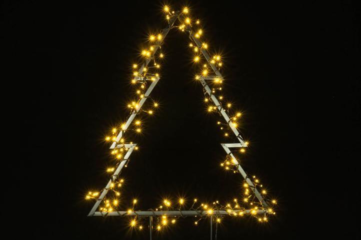 Karácsonyi LED dekoráció - fa 175 LED 75 cm