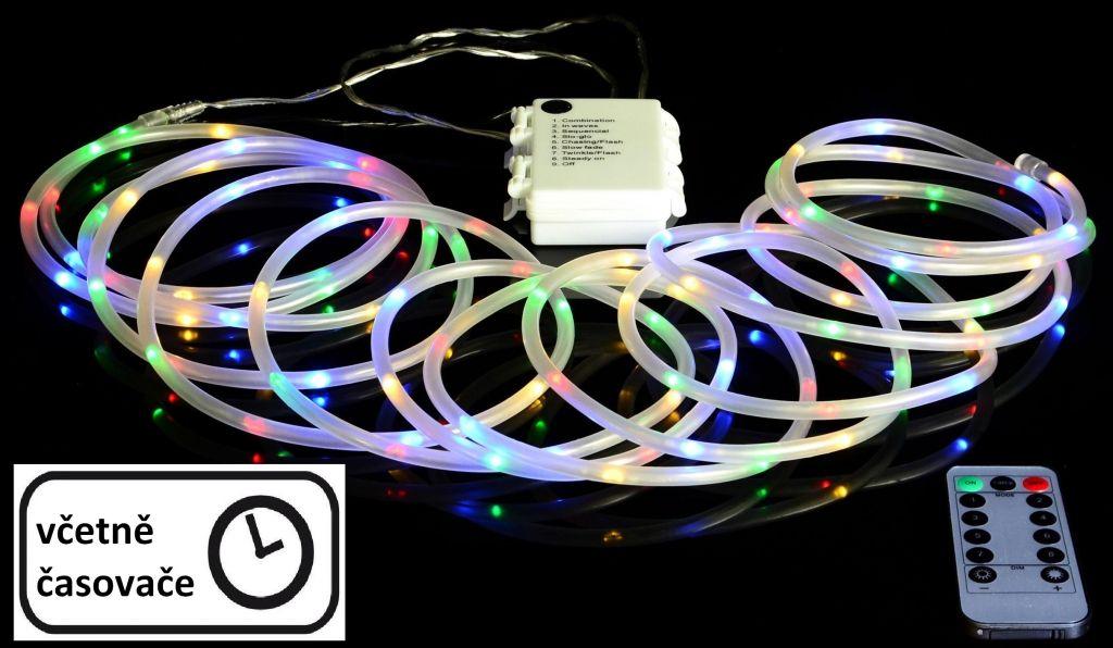 Karácsonyi LED világítás 5 m - színes MINI kábel