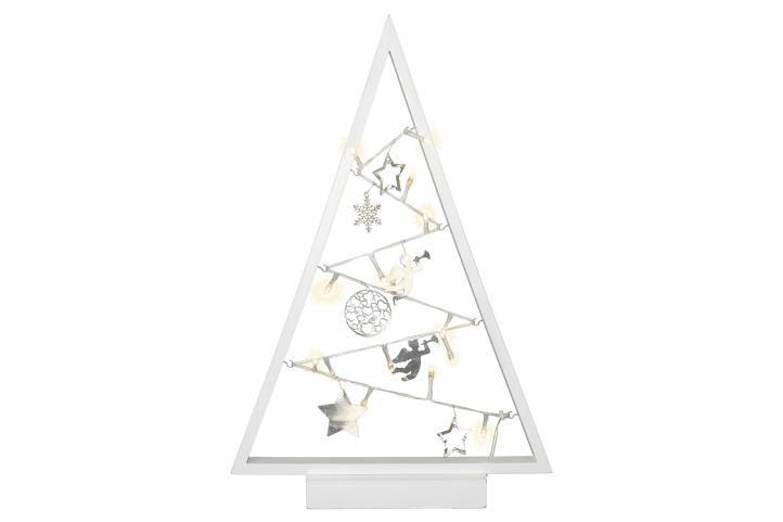 Karácsonyi dekoratív LED világítás fehér - 15 LED, meleg fehér