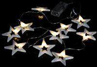 Karácsonyi LED világítás - meleg fehér csillagok - 20 LED
