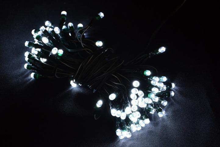 Kerti jégcsap fényfüzér – 110 x LED dióda fehér – villogó funkcióval
