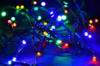 Karácsonyi LED fényfüzér 8 m - színes, 80 dióda