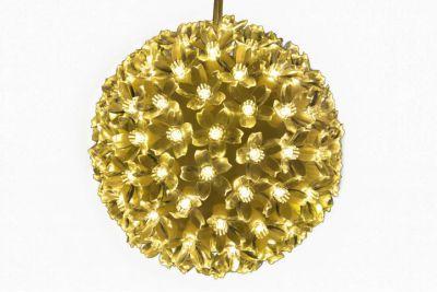 Karácsonyi LED fénygömb 15cm/100x LED - meleg fehér