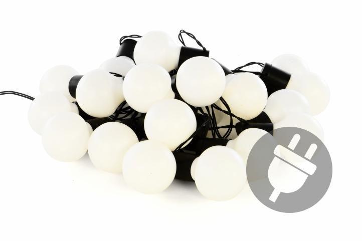 Kültéri megvilágítás 18m/20x LED - meleg fehér