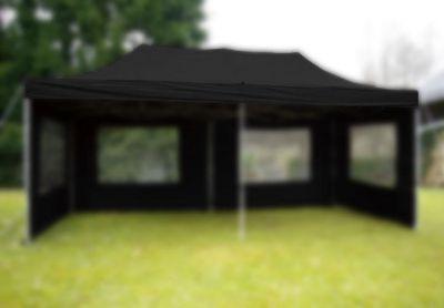Tető kerti sátorhoz - 3 x 6 m - fekete