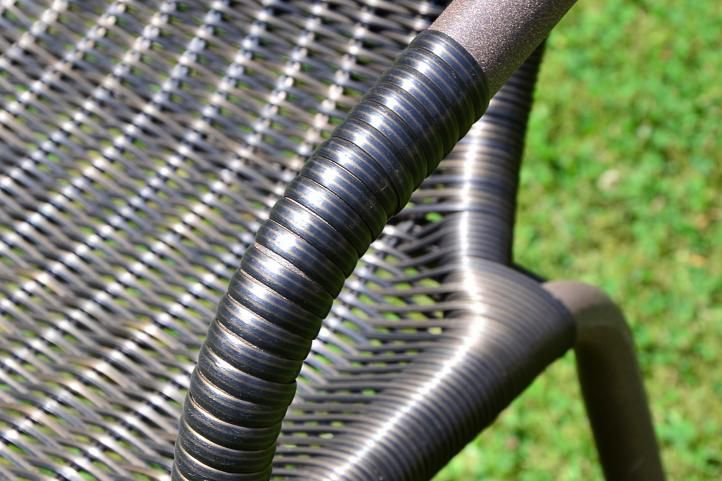 Kerti rattan szék BISTRO - barna