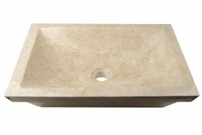 Mosdókagyló természetes kőből BERGAMO - márvány