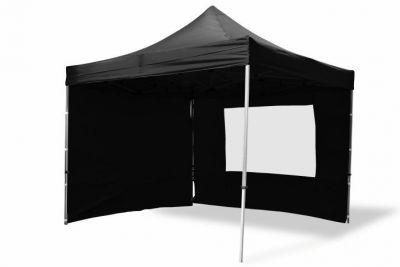 Összecsukható kerti sátor PROFI 3 x 3 m - fekete