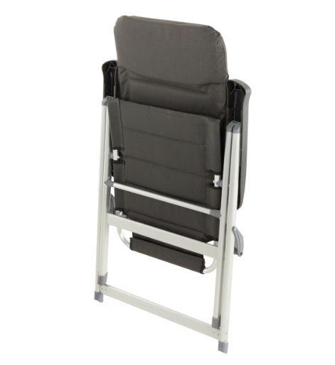 Kerti szék összecsukható 2 db - fekete