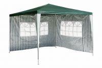 Kerti party sátor GARTHEN – zöld 3 x 3 m + 2 oldalfallal