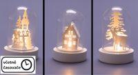 Karácsonyi dekoratív világítás - 3 db kúp