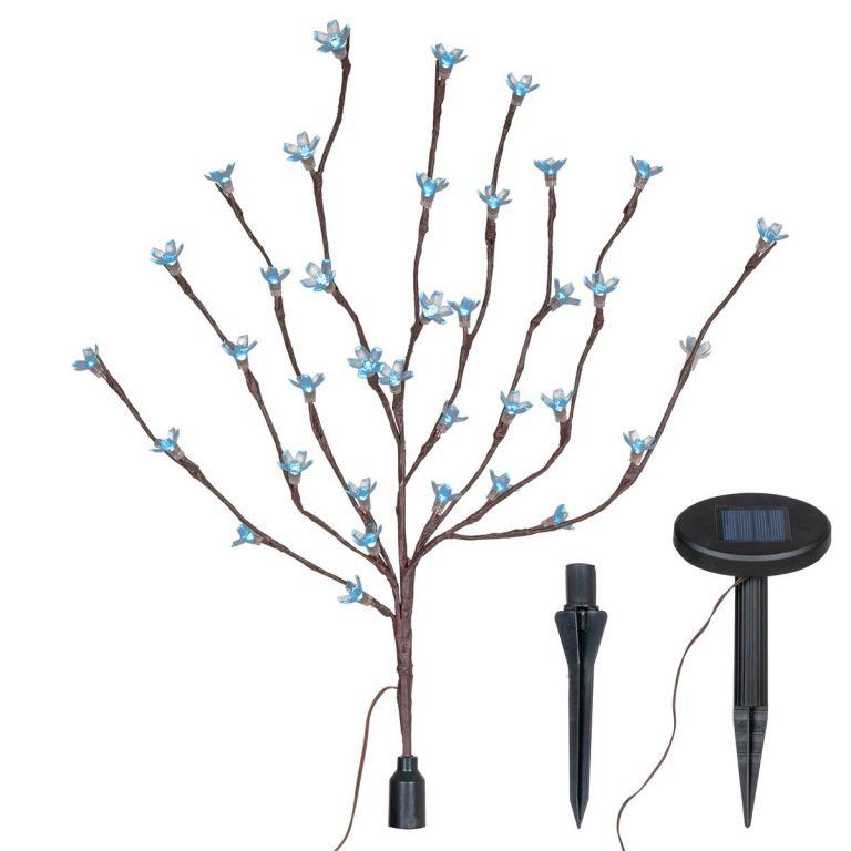 Kerti világító fa Garth 36 LED diódával és szoláris panellel, fehér LED diódák