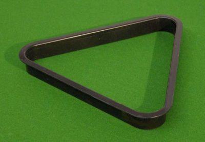Műanyag biliárd háromszög, fekete 57,2 mm