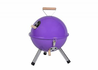 Kerti kerek mini grillsütő – lila