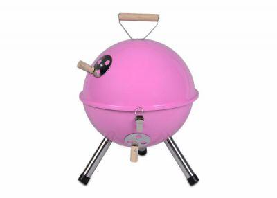 Kerti kerek mini grillsütő – rózsaszín