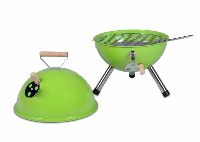 Kerti kerek mini grillsütő – zöld