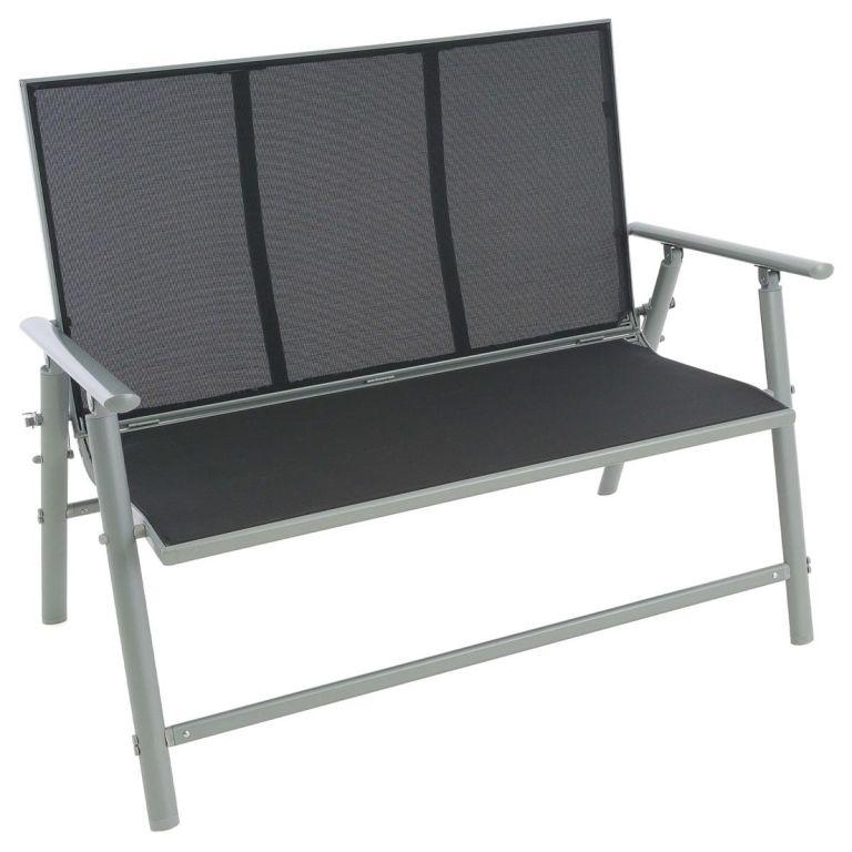 Kerti pad összecsukható GARTHEN 119 cm - fekete