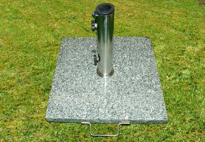 Napernyőtalp - gránit/rozsdamentes acél, 25 kg