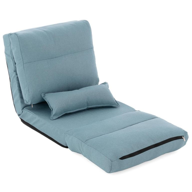 TV fotel DIVERO Relax Lounger Blue