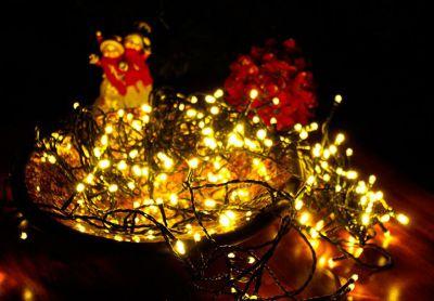 Karácsonyi LED fényfüzér 18 m - meleg fehér, 200 LED