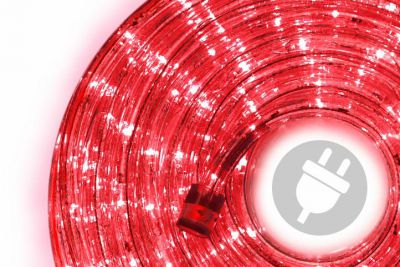 LED fénykábel 20 m - piros, 480 dióda