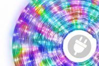 LED fénykábel 10 m - színes, 240 dióda