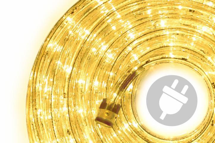 LED fénykábel 10 m - sárga
