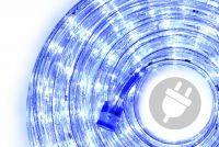 LED fénykábel 10 m - kék, 240 dióda