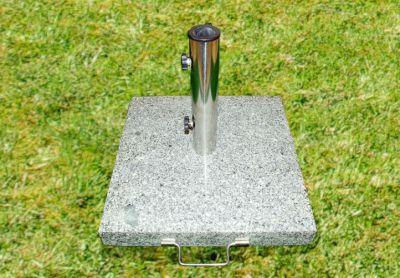Napernyőtalp - gránit/rozsdamentes acél, 40 kg