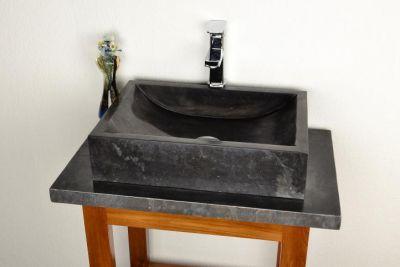 Mosdókagyló - csiszolt márvány - NOVARA