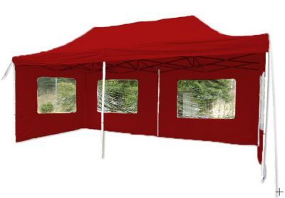 Összecsukható kerti parti sátor PROFI – 3 x 6 m piros