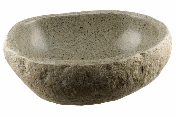 Mosdókagyló természetes kőból andezitból