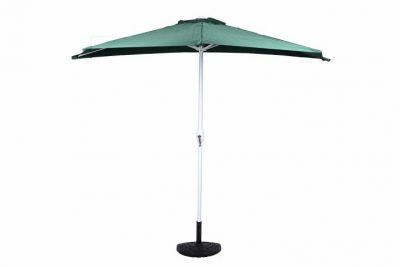 Félköríves kerti napernyő, zöld + kiegészítőkkel