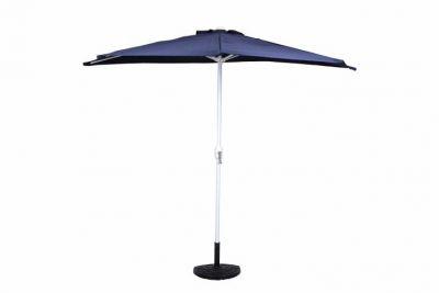 Félköríves kerti napernyő, kék + kiegészítőkkel