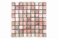 Márvány mozaik Garth, burkolat - piros