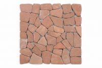 Márvány mozaik Garth, burkolat - piros/terrakotta
