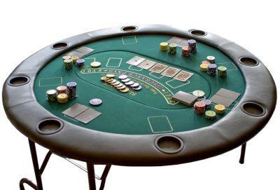 Póker összecsukható asztal készlet GARTHEN - 8 személyes