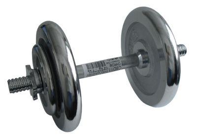 Egykezes kézisúlyzó - 14 kg, krómozott